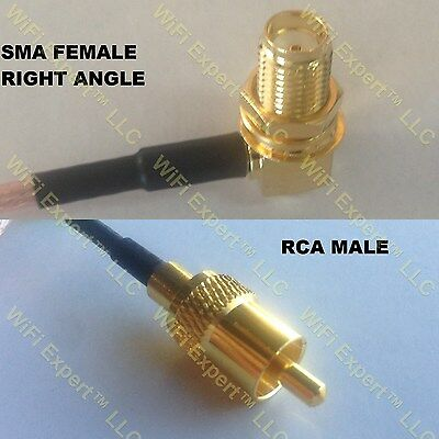 RG316 MCX MALE to RCA FEMALE Coaxial RF Cable USA-US