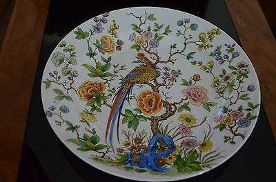 Kaiser Nanking Plate West Germany Peacock Designer Flowers Plate 12.5 inches