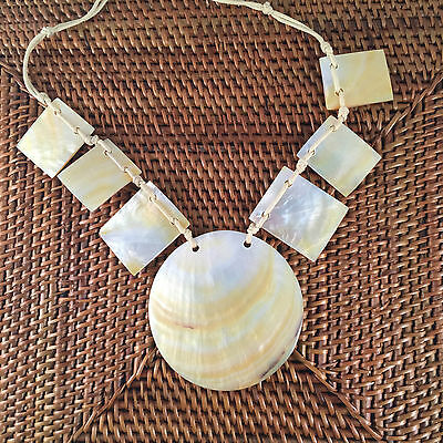Sea shell pendant necklace | polished natural shells | hand made | Holley Day