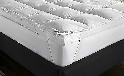 Goose Feather & Down Mattress Topper White ,  All Sizes Available