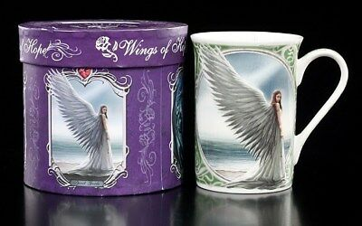 Porzellan Tasse - Engel by Anne Stokes - Spirit Guide - Fantasy Kaffee