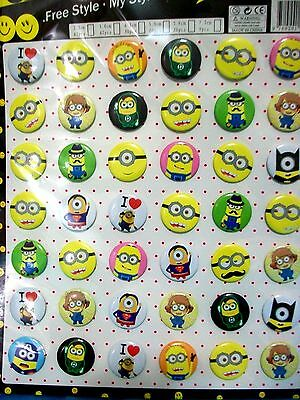 Despicable Me Minions in Pin Badge   -- set of 42pcs