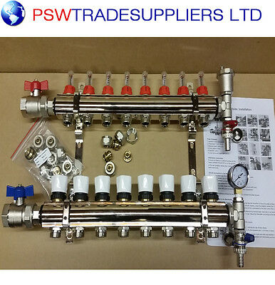 UNDERFLOOR HEATING MANIFOLDS - 8 -  Pipes conectors size 16mm / 15mm