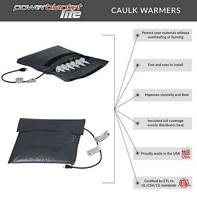 Caulk Warmer - Caulk Heater - Powerblanket Lite Caulk Warming Pouch - PBLCAUW