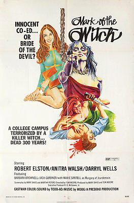 Mark of the Witch 1970 U.S. One Sheet Poster