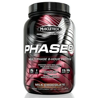 Muscletech Phase 8 50 Servings Sustained Release Protein Powder VARIOUS FLAVOURS