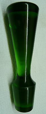 "DECANTER TOPPER - EMERALD GREEN GLASS - 4 1/4""    (#18-4)"