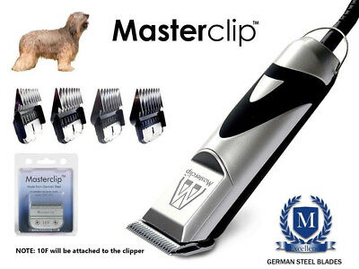 Briard Dog Clippers Clipping Set with 4 comb guides by Masterclip Professional