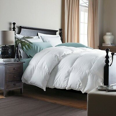 GOOSE FEATHER &  DOWN DUVET / QUILT - 7.5 Tog Double Bed Size 15%  Down