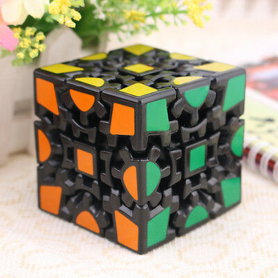 New Educational Gear Wheel6 Sides Puzzle Toy Magic Cube Black Square Twisty Toy