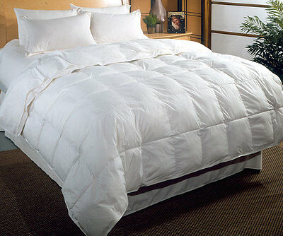 New 7.5 Tog Double Bed Size Duck Feather & Down Duvet / Quilt Bedding