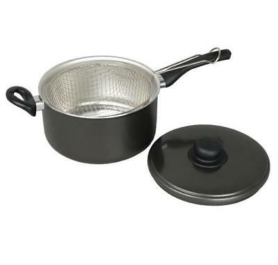 Chip Pan With Lid + Basket - 22cm