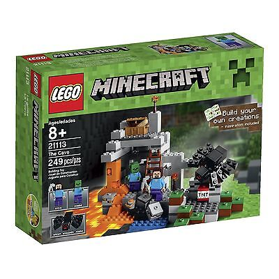 LEGO Minecraft The Cave 21113 Playset, Free Shipping, New