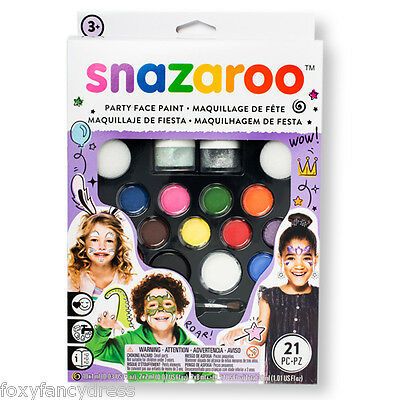 Kids 50 FACES Professional Snazaroo Party Face Painting Make Up Kit Fancy Dress