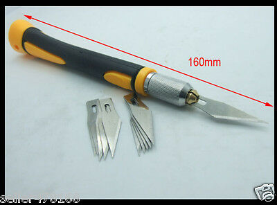 1PC Anti-skid plastic handle Knifes Precision Knife + 10pcs Blades Cutting blade