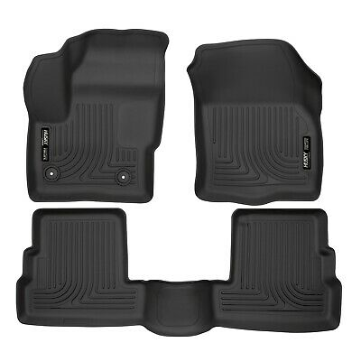 Husky Liners 99301 Black Front/Rear WeatherBeater Floor Liners for Lincoln MKC