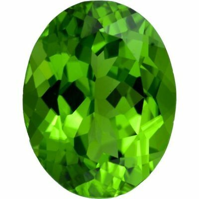 Natural Fine Crisp Apple Green Peridot - Oval - Myanmar - Top Grade