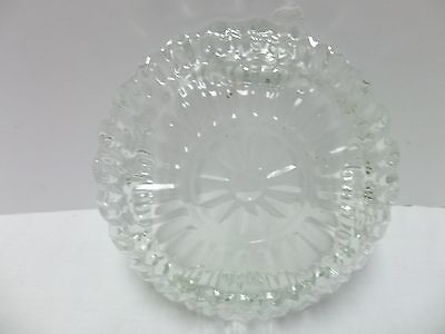 Glass bowl/plates marked Pasari Indonesia square set of 4 decorative