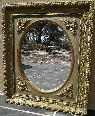 Antique French Framed Oval Mirror