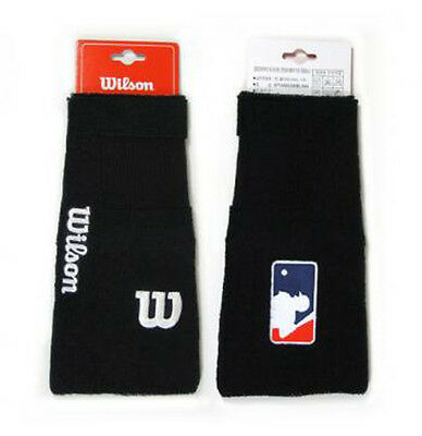 Wilson A66038 Blwh Sports Baseball Protector 18cm Wristband Black 1PC
