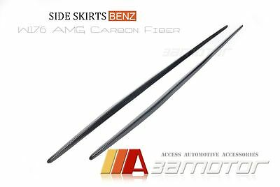 Mercedes W176 A-Class A200 A250 A45 AMG Carbon Fibre Side Skirt Trim Covers