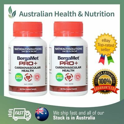 2 x NEW STRONGER BERGAMET PRO+ 60T - REDUCE CHOLESTEROL + FREE SHIPPING