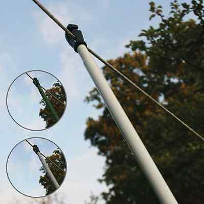 2.4M Heavy Duty Telescopic Washing Line Prop Extending Support Clothes Laundry