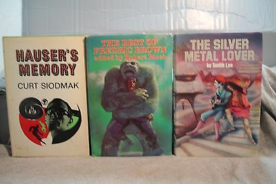 lot vtg old SCI FI THE SILVER METAL LOVER BEST OF FREDRIC BROWN HAUSER'S MEMORY
