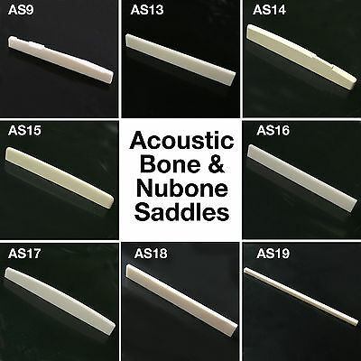 High Quality Solid Bone Nubone Acoustic Guitar Saddle AS