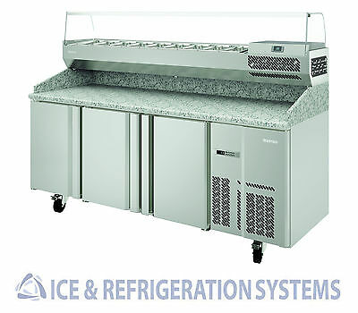 "Infrico 78"" Commercial Refrigerator Granite Top Pizza Prep Table Irt-Mpg1980"