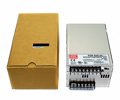 1pc DC Switching Power Supply PSP-600-24 24V 25A 600W AC88~264V Mean Well MW