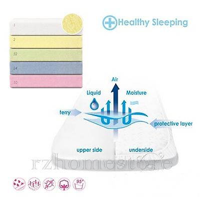 Waterproof & Breathable Terry Fitted Sheets - Baby - Toddler - Cot - Bed Sheet