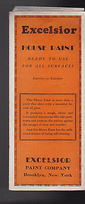 Excelsior House Paint Brochure Chips 1944 Brooklyn NY