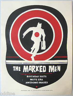 THE MARKED MEN- Original 2006 Concert Poster S/N AMY JO, Birthday Suits