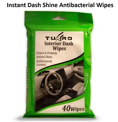 40 Instant Car Interior Dash Wipes Board Shine Antibacterial Car Dashboard Wipes