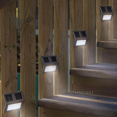 Solar Powered Stainless Steel Outdoor Pathway Stairs Driveway 2 LED Light Lamp