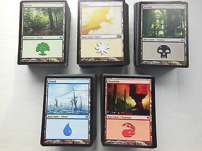 1000 BASIC LANDS englisch magic the gathering swamp island mountain forest plain