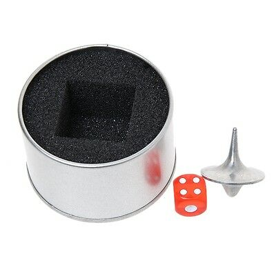 Novelty INCEPTION Totem Accurate Spinning Top Alloy Silver + Dice + Box Hot JJ