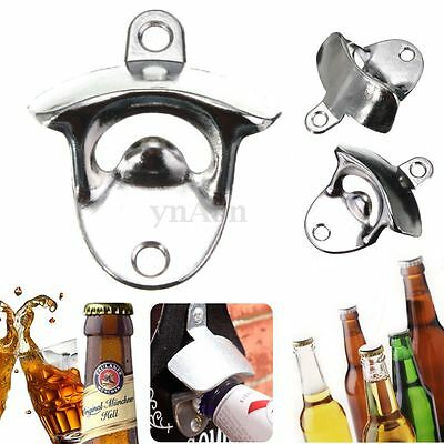Wall Mount Open Wine Beer Soda Glass Cap Bottle Opener Kitchen Bars Club Gifts