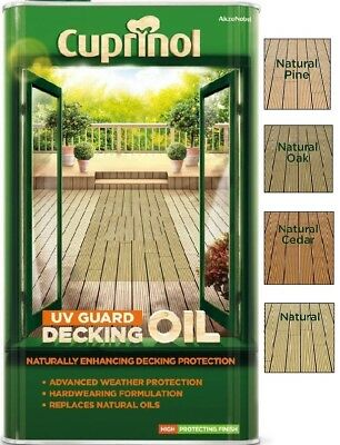 Cuprinol UV Guard Decking Oil - Water Based - 2.5 and 5 Litres - All Colours