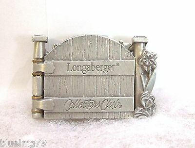 Longaberger 2000 Collectors Club Cottage Gate Tie-On / Lapel Pin NIB (E1)