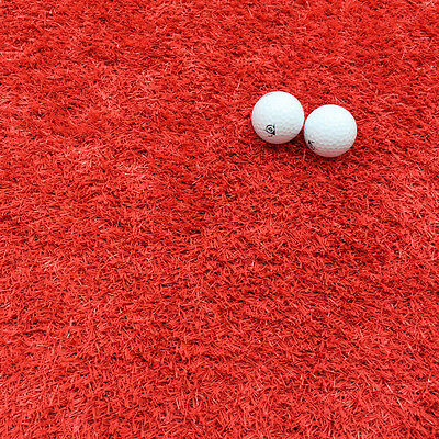 22MM Thick - Quality Artificial Grass, Astro Turf - Red -  4M Wide