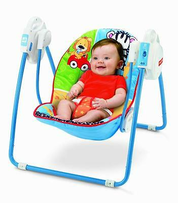 Fisher Price Adorable Animals Open Top Take Along Swing Baby Play Relax OFFICIAL