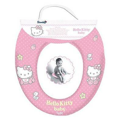 New Hello Kitty Soft Padded Toilet Seat Child Infant Toddler Potty Trainer Seat