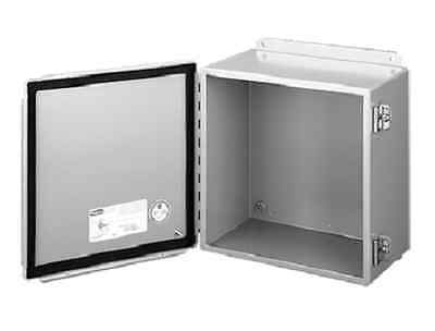 "New Hoffman A14128Ch  14"" X 12"" X 8"" Jic Enclosure And A14P12 Panel"