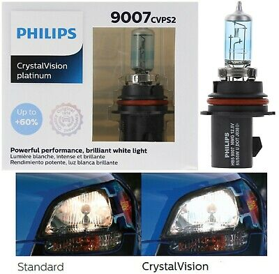 Philips Crystal Vision Ultra 9007 HB5 65/55W Head Light Bulb Replacement Dual OE