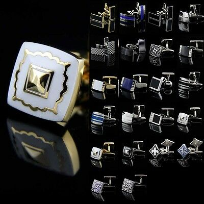 Mens Quanlity Novelty Stainless steel Square Wedding Party Gift Shirt Cufflinks