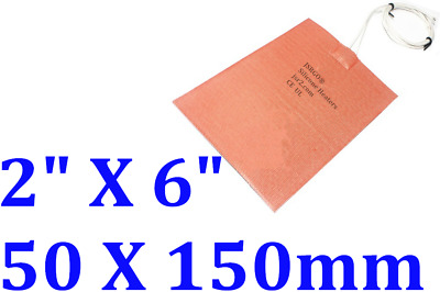 50mm X150mm,24V, 1.5W heating at 10 Degree C No 3M backing 1PC  silicone heater