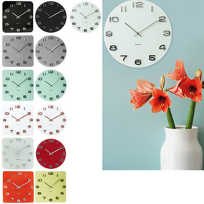 Karlsson 35cm Vintage Glass with 3D Numbers Wall Clock