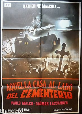 The House By The Cemetery Original 1981 Spanish Poster Lucio Fulci Horror